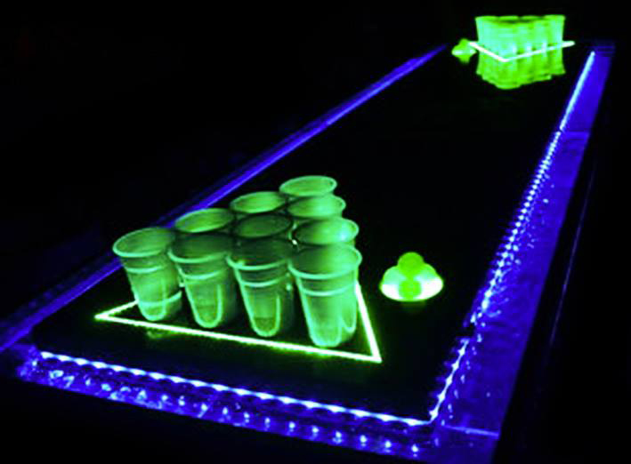 They really take their beer pong seriously. Photo courtesy of PBR Rock Bar.