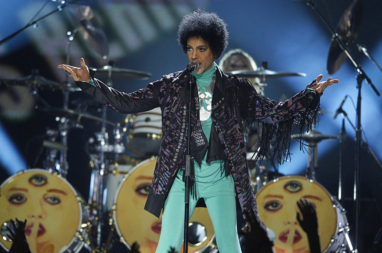 Prince performs during the 2013 Billboard Music Awards at the MGM Grand Garden Arena in 2013. Photo by Steve Marcus, Las Vegas Sun