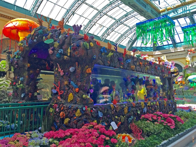 Get tanked 39 at the bellagio conservatory 39 s new summer for Fishing las vegas