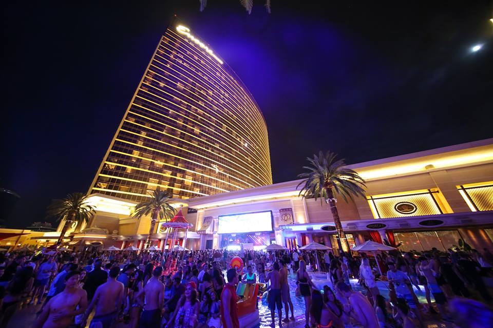 A hint at the view at Encore Beach Club at Night. Photo courtesy of Encore Beach Club.
