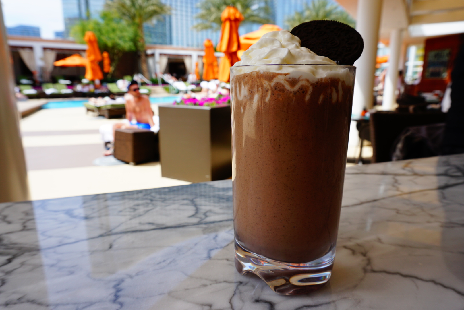 The Girl Scout Cookie shake, photo courtesy of Mandarin Oriental.