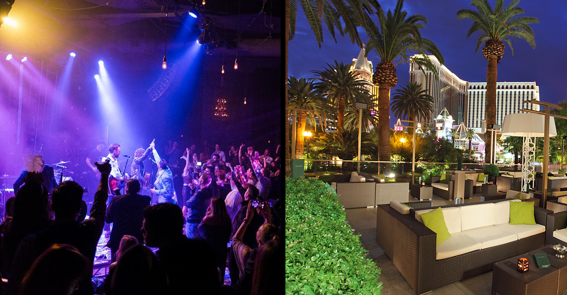 Sayer's Club (left) is one of the few clubs that has live music and Rhumbar (right) has a beautiful and relaxing patio. Photos courtesy of Sayer's Club and Rhumbar.