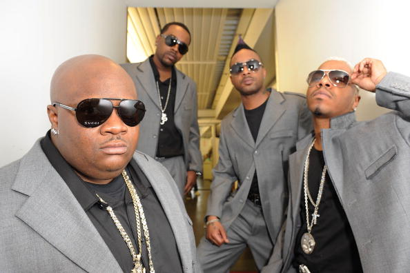 NEW YORK - MARCH 31: Jazz, Tao, Nokio and Sisqo of Dru Hill backstage before performing at the Amateur Night Show Off Quarter Finals at The Apollo Theater on March 31, 2010 in New York City. (Photo by Shahar Azran/Getty Images)