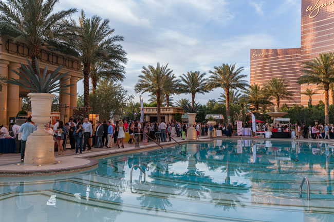 The Epicurean Affair takes place poolside at Palazzo.
