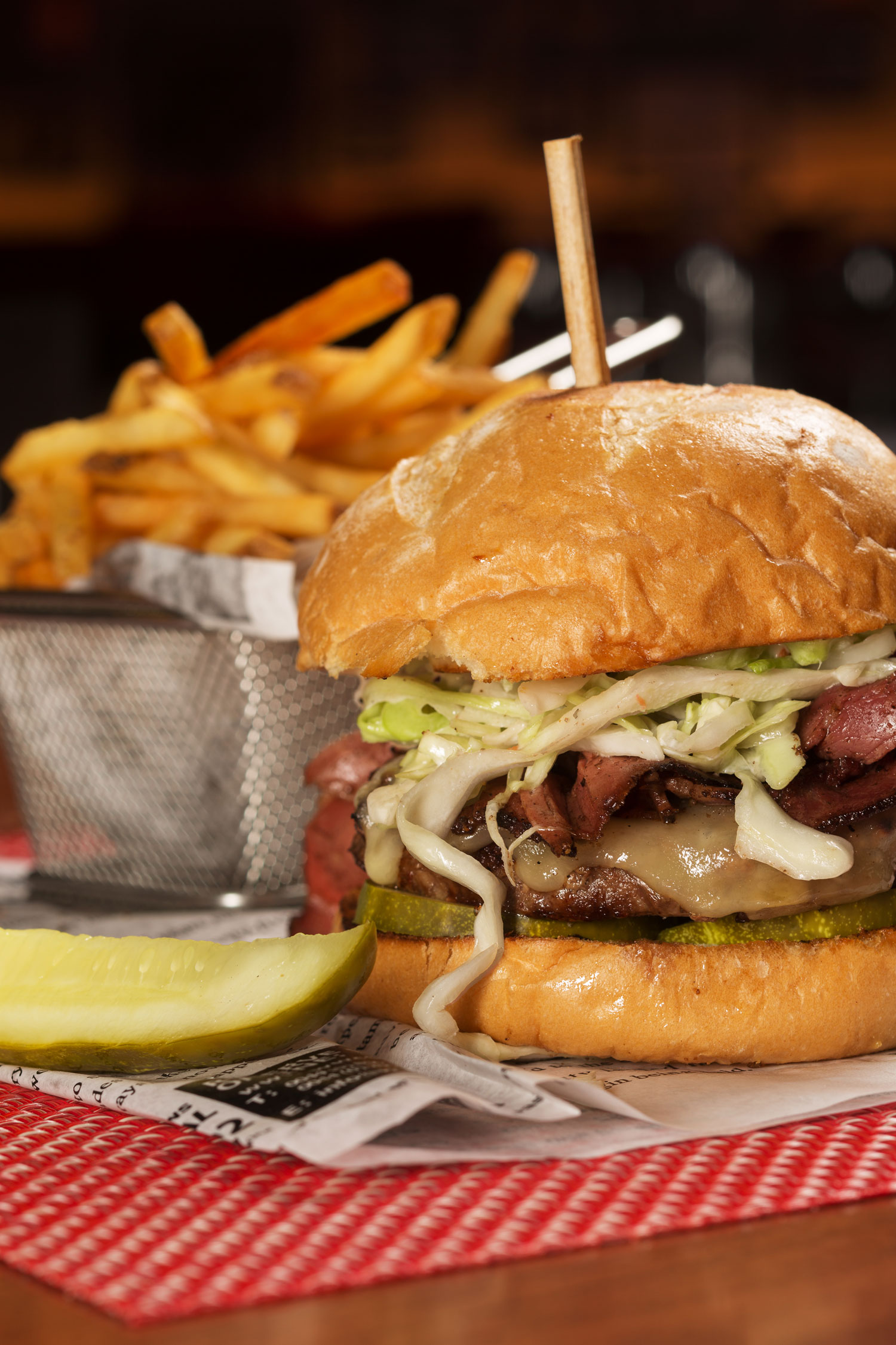 The Meyer Lansky burger, photo courtesy of El Cortez.
