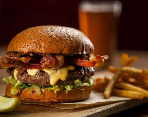 Celebrate National Burger Month at Michael Mina's PUB 1842, photo courtesy of MGM Grand.