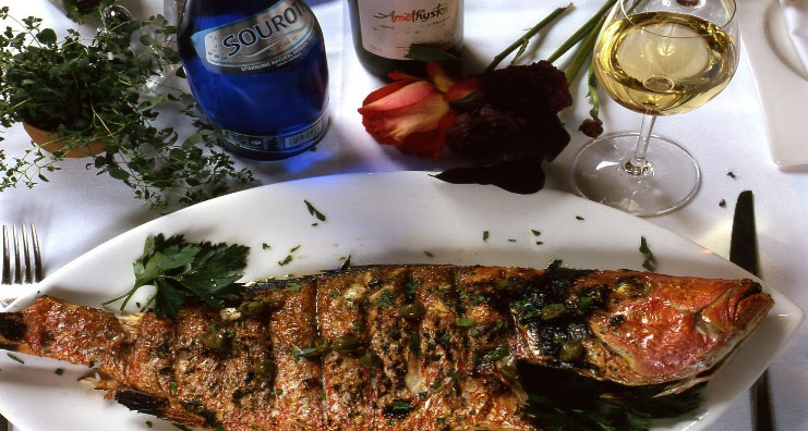 Fresh Mediterranean seafood, photo courtesy of Estiatorio Milo's.