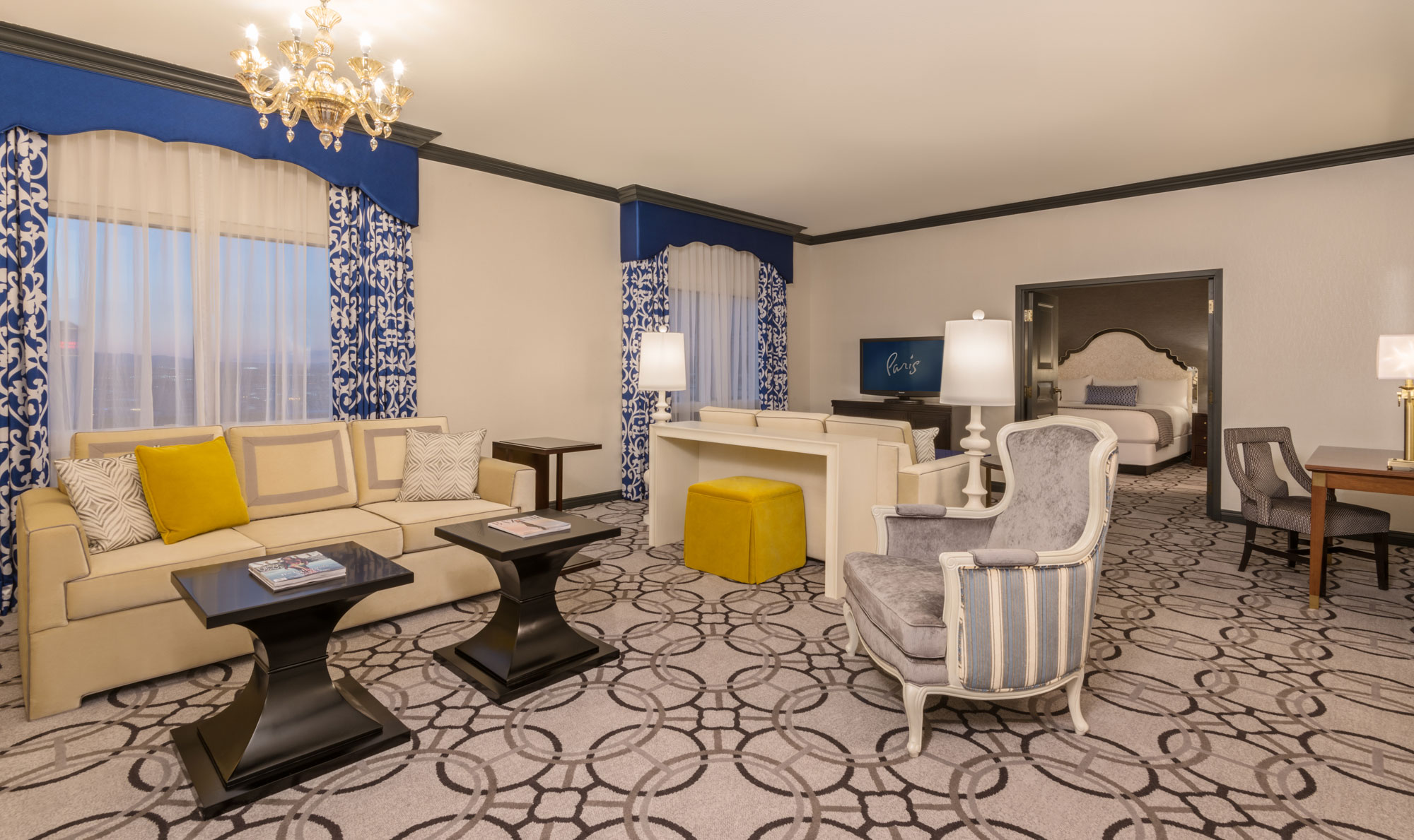 Living Room Suits : Ooh, la la: Paris Las Vegas hotel rooms get a snazzy ...