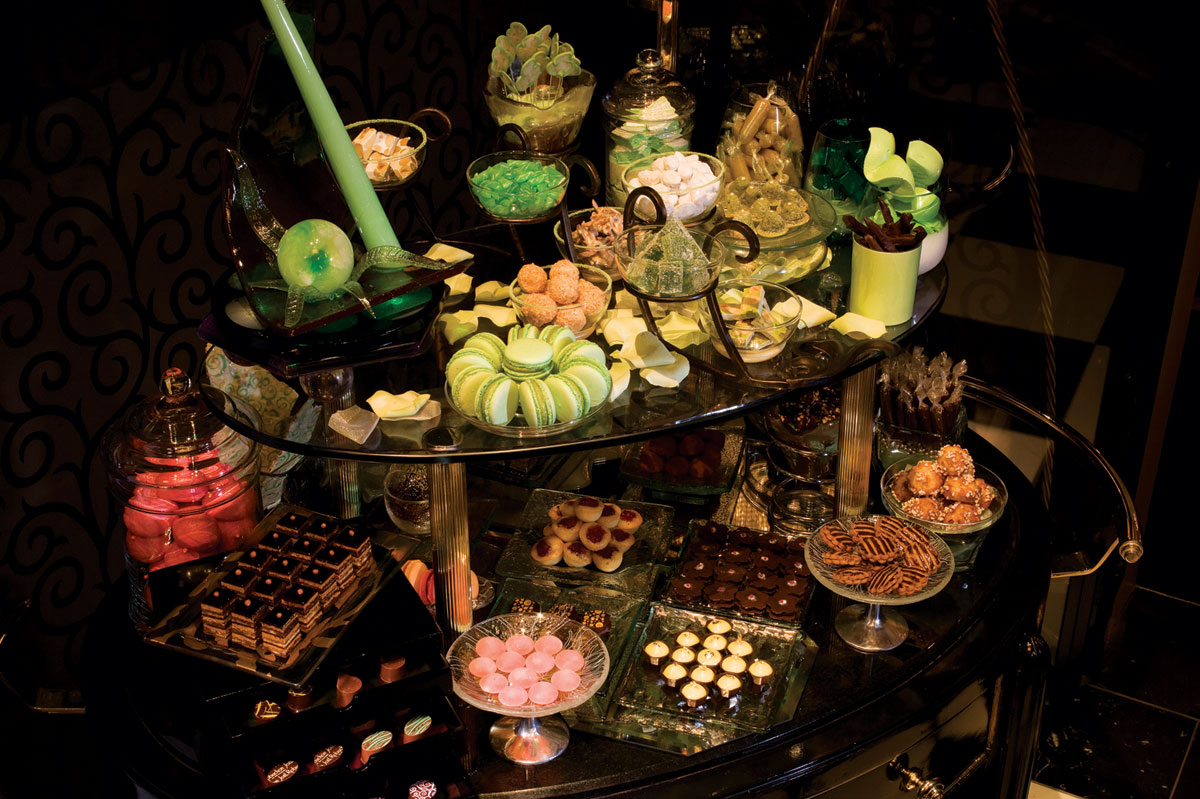 The mignardise cart at Joël Robuchon, photo courtesy of MGM Grand.