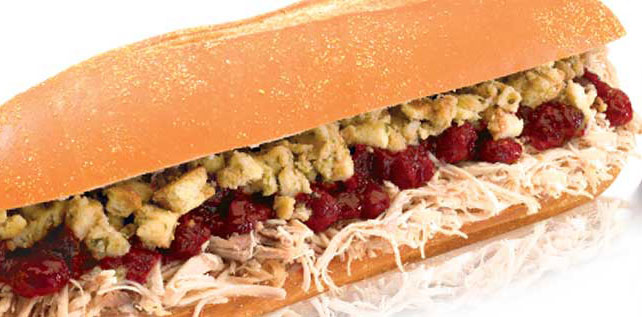 The famous Bobbie sandwich, photo courtesy of Capriotti's.