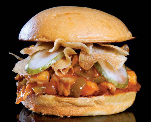 The catfish sloppy Joe, photo courtesy of Las Vegas Weekly.