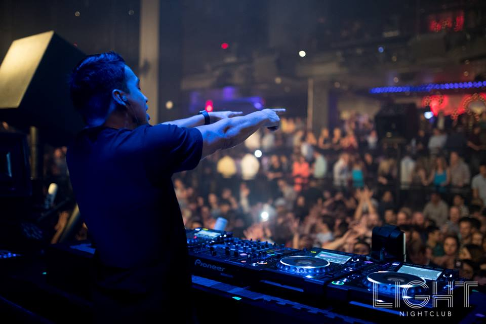 Laidback Luke looking lively at Light. Photo courtesy of Light Nightclub.