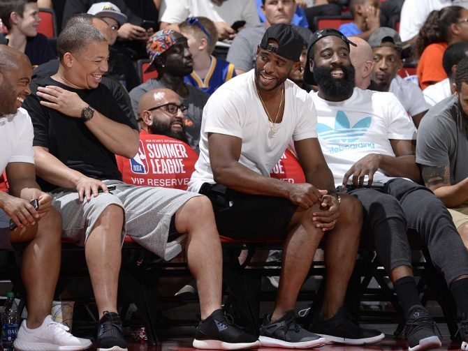 'Swoosh there it is: Your guide to all things NBA Summer League Las Vegas' from the web at 'https://blog.vegas.com/wp-content/uploads/2017/07/CP3-670x503.jpg'