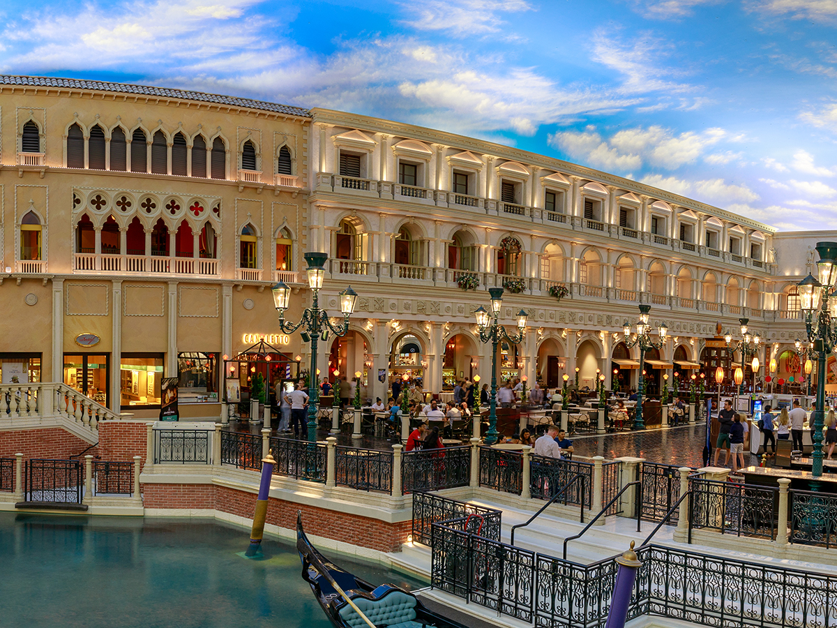 The Grand Canal Shoppes at Venetian Hotel and Casino in Las Vegas.