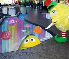 M&M takes to the streets with wall in Las Vegas